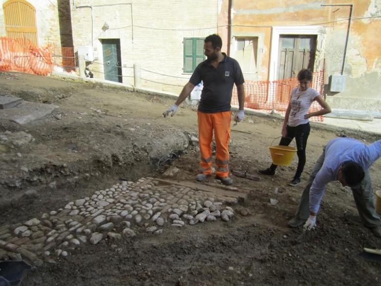 Largo Palmaroli, lavori in corso