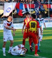Samb-Giulianova 2-0, azione