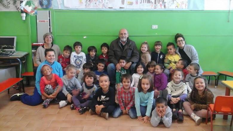 Nazzareno Perotti alla scuola dell'infanzia Leopardi