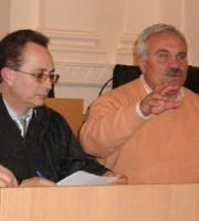 Francesco Rausei e Domenico D'Annibali in una foto d'archivio