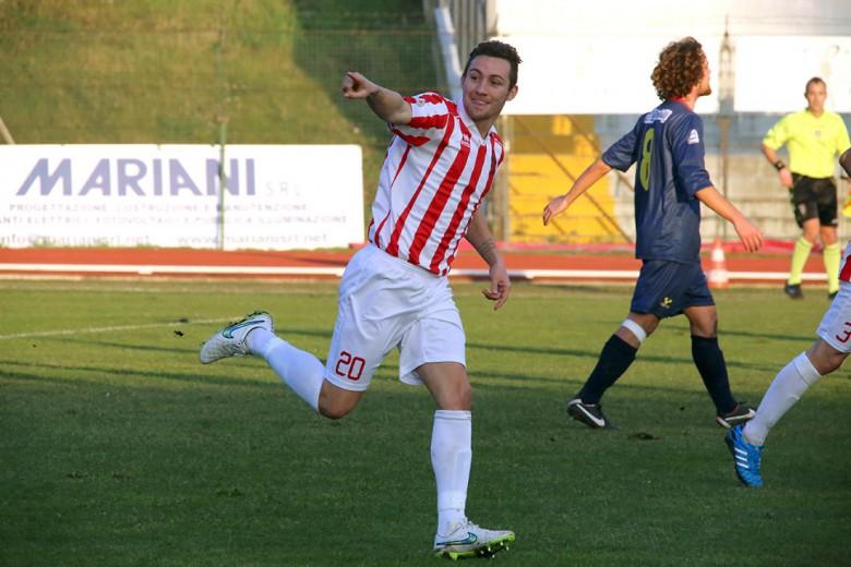 Alessandro D'Antoni con la maglia della Maceratese (foto cronachemaceratesi.it)