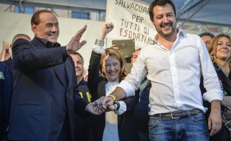 Berlusconi, Meloni, Salvini (fonte foto formiche.net)