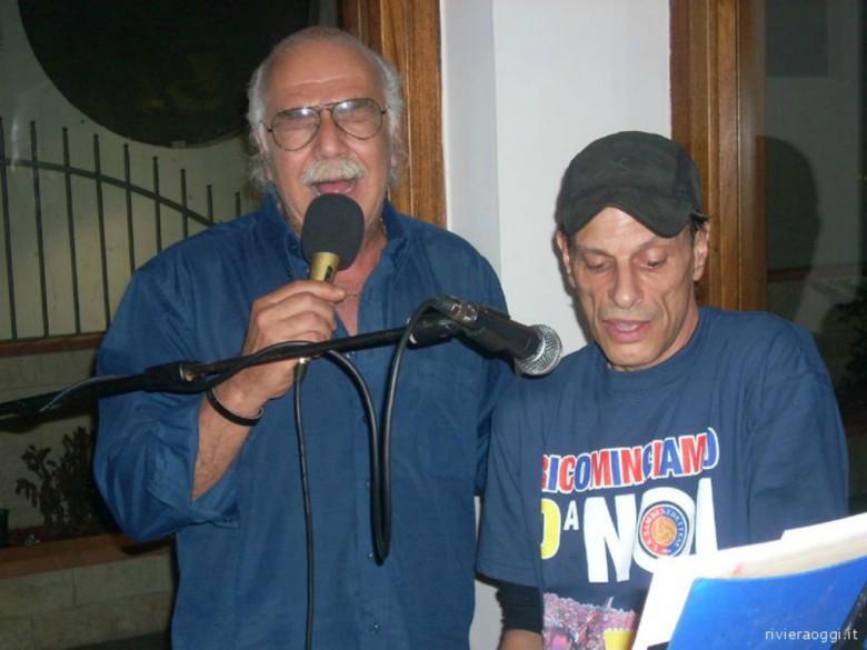 Pasquale Bergamaschi a una festa della Samb nel 2010