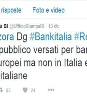 Ufficio Stampa Banca d'Italia, tweet su dichiarazioni Salvatore Rossi