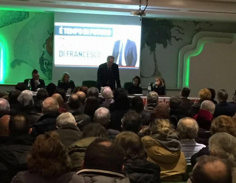 Antimo Di Francesco al Calabresi durante la presentazione della candidatura