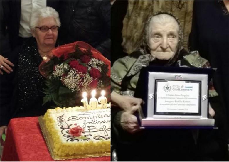Befània Tesei e Sestilia Santori, centenarie di Grottammare