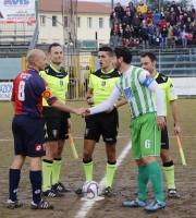 Avezzano-Samb, i capitani (foto Bianchini)