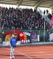 I tifosi rossoblu oggi a Castelfidardo(foto Bianchini)