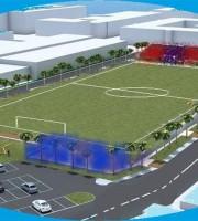 Ballarin ristrutturato per il calcio, via le tribune, resta la curva sud e due basse costruzioni per spogliatoi e ristorante.