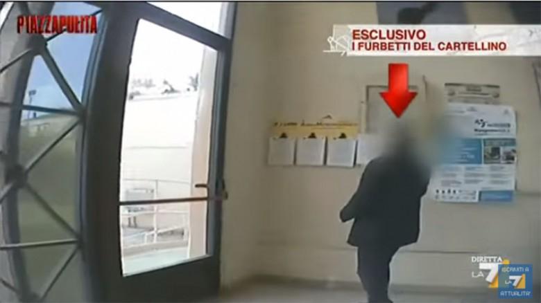 L'inchiesta i furbetti del cartellino di Piazza Pulita La 7 sul Comune di Grottammare