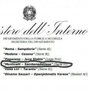 Monticelli-Samb tra le partite a rischio secondo l'Osservatorio
