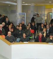 Persone in municipio (foto tratta da Twitter San Benedetto del Tronto)