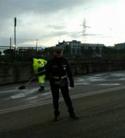 Protezione Civile e Municipale al lavoro, 17 gennaio (foto Città di San Benedetto del Tronto)