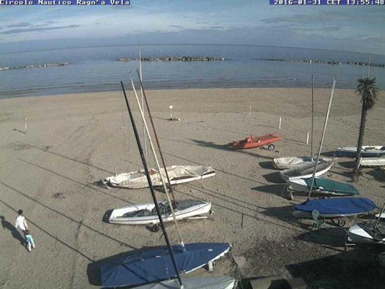 Sole a San Benedetto, 31 gennaio (foto: circolo nautico Ragn' a Vela)