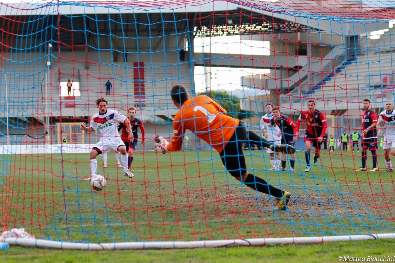 Samb-Campobasso 2-1, il rigore di Titone