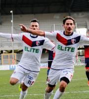 Samb-Campobasso 2-1, Titone esulta dopo iil gol