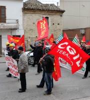 Manifestazione operai Veco Martinsicuro