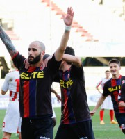 Samb-Vis Pesaro 2-0, Conson esulta