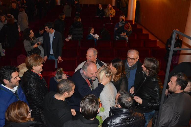 Gaspari abbraccia Margherita Sorge (foto dal profilo di Margherita Sorge)
