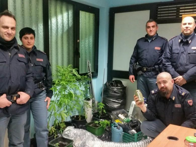 Blitz della Polizia di Teramo (foto Questura di Teramo)