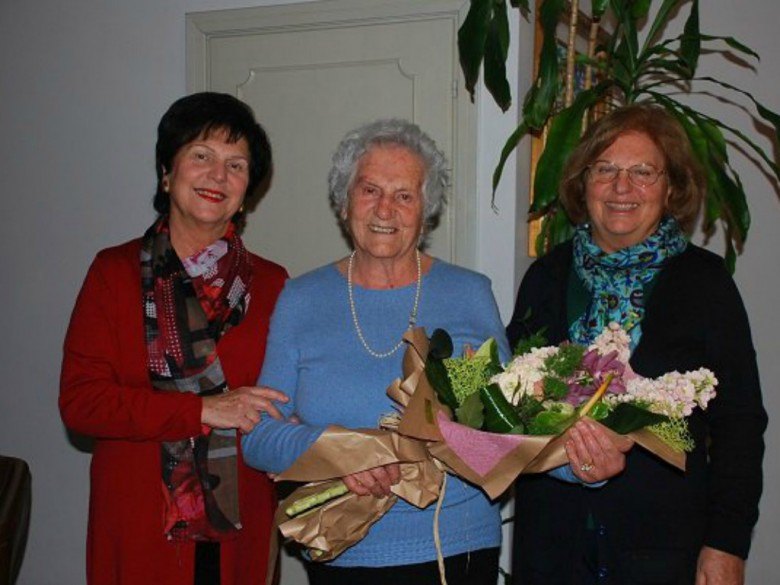 Cento anni per Maria Alesiani (foto Twitter San Benedetto del Tronto)
