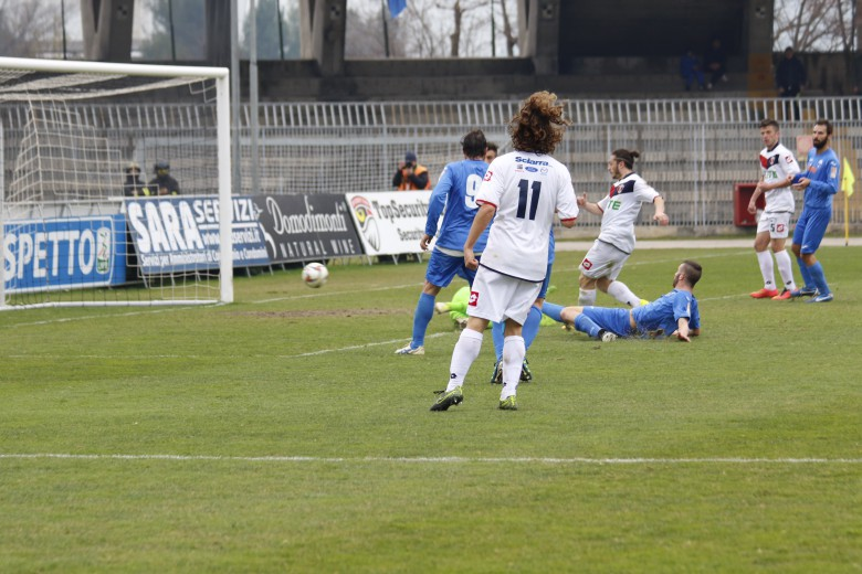 Monticelli-Samb, il gol di Palumbo