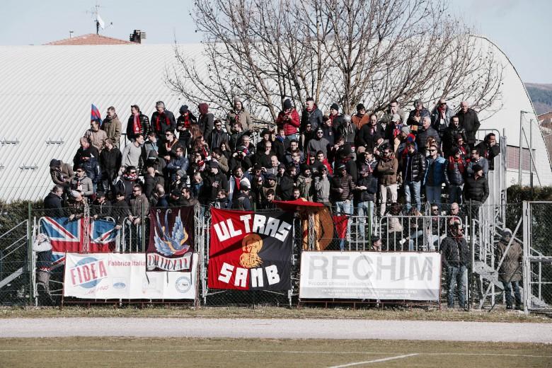 I supporters rossoblu a Matelica