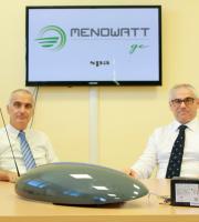 Maroni e Marcucci con il Led utilizzato per Smart City e Metering