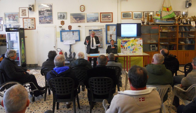 Il presidente Guido Brunetta e l'ingegner Luciano Postiglione di E-Quadro Energie durante l'incontro di approfondimento sul GNL