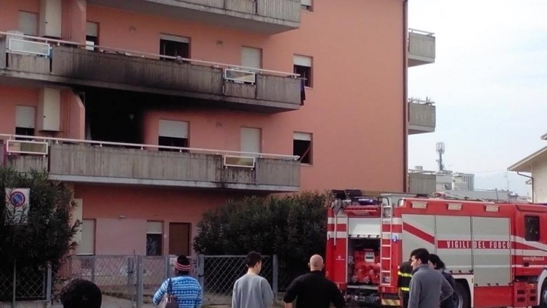 Incendio in un appartamento a Martinsicuro