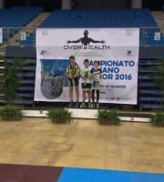 Alessio Clementoni sul podio