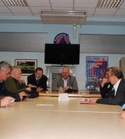 Il sindaco Gaspari e l'assessore Sestri alla Protezione Civile