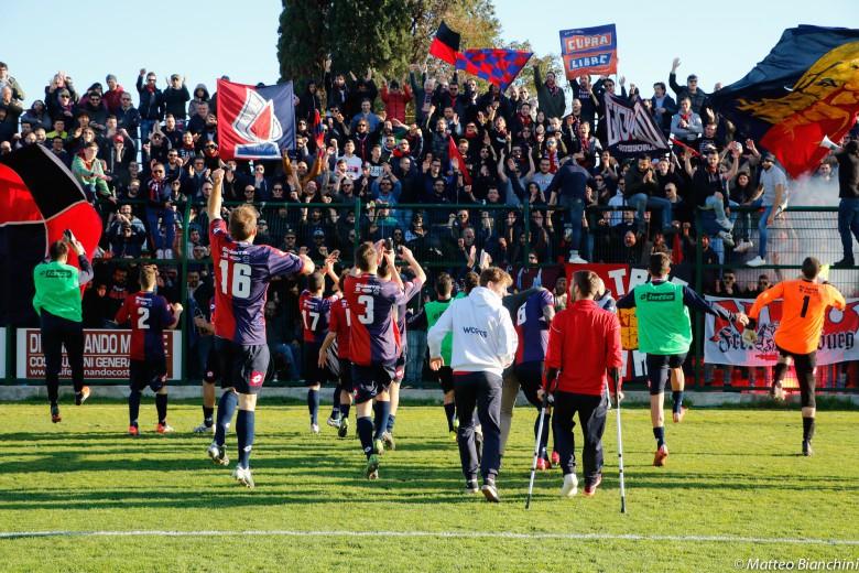Giulianova-Samb 0-1, saluto finale