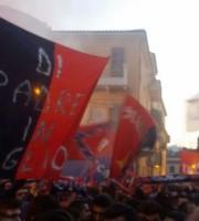 Tifosi riuniti nella parte storica della città