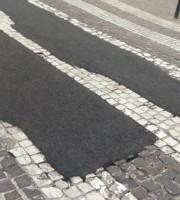 Intervento al centro di San Benedetto (foto tratta da Facebook)