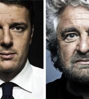 Matteo Renzi e Beppe Grillo foto nuovasocietà