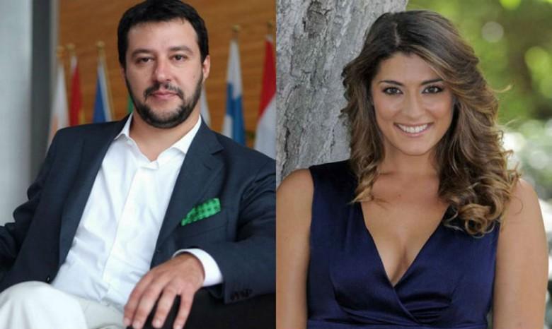 Matteo Salvini e Elisa Isoardi
