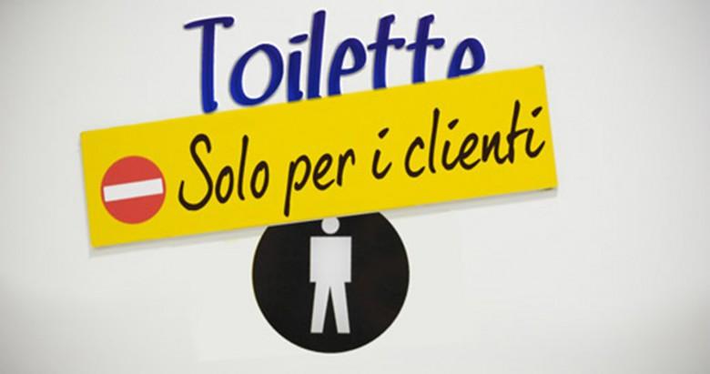 L'uso del bagno all'interno dei pubblici esercizi è un servizio privato
