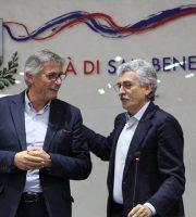 Paolo Perazzoli e Massimo d'Alema
