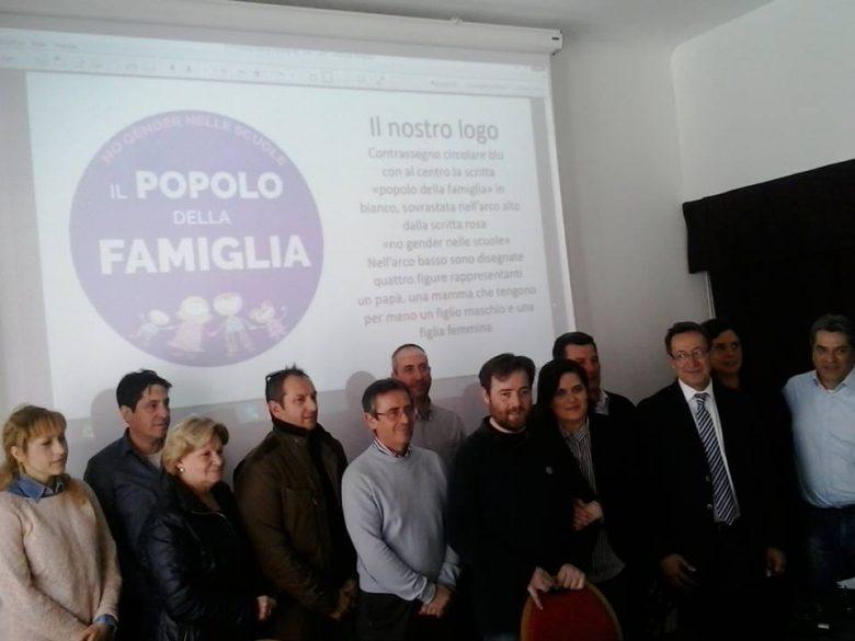 Piunti con i rappresentanti del Popolo della Famiglia