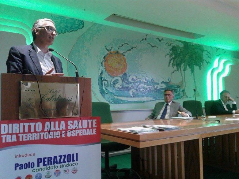 Luca Ceriscioli con Paolo Perazzoli e Enrico Rossi