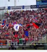 Tifosi rossoblu a Parma