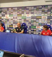 Titone, Pezzotti e Palladini in conferenza stampa al Tardini
