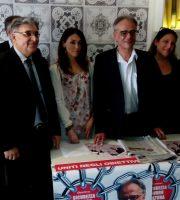 I candidati di Servire San Benedetto. Al centro Giorgio De Vecchis