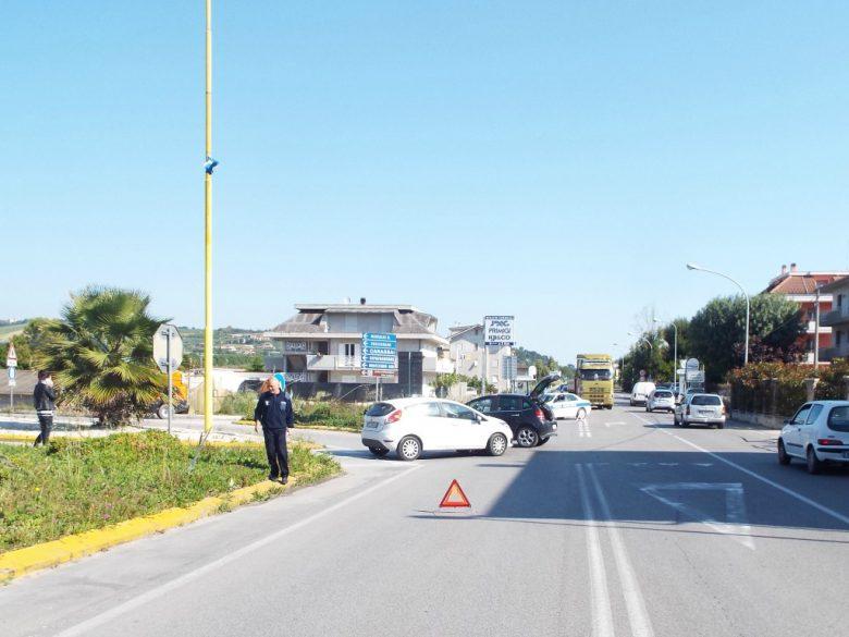Incidente a Cupra, 21 maggio (foto Polizia Municipale Cupra Marittima)