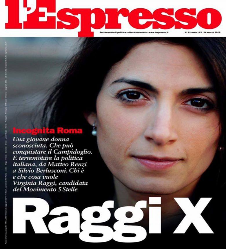 La copertina dell'Espresso per Virginia Raggi, toni non astiosi e una immagine ben costruita sono il segnale di una benevolenza di massima del sistema dei media italiani verso il M5S