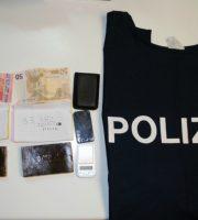 Materiale recuperato dalla Polizia (foto Questura di Teramo)