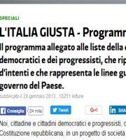 Programma elettorale Pd 2013
