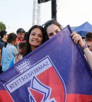 Festa promozione Samb, tifose rossoblu