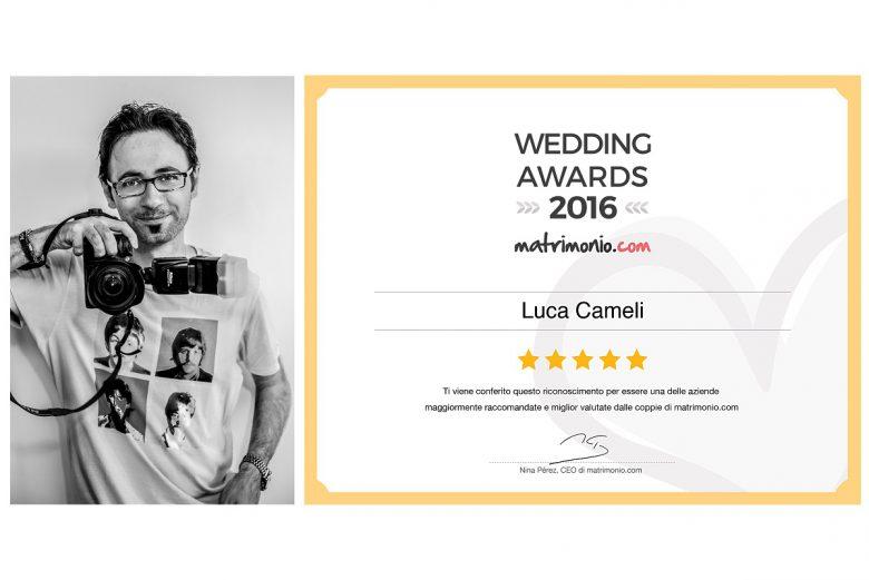 Luca Cameli premiato al Wedding Awards 2016